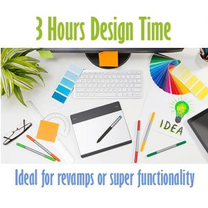3 hour design time Cheap website design