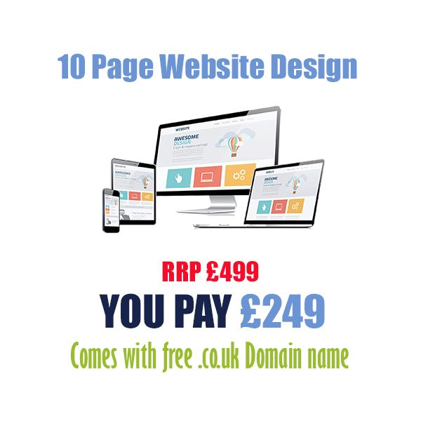 Cheap 10 page website design