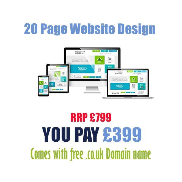 Cheap 20 page website design