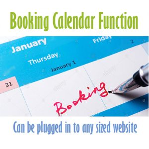 booking calender Cheap website design