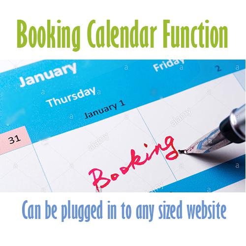 booking calender Cheap website design