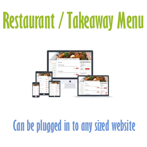 food menu plugin cheap website design